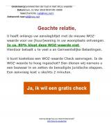 Let op: foutieve e-mail in omloop